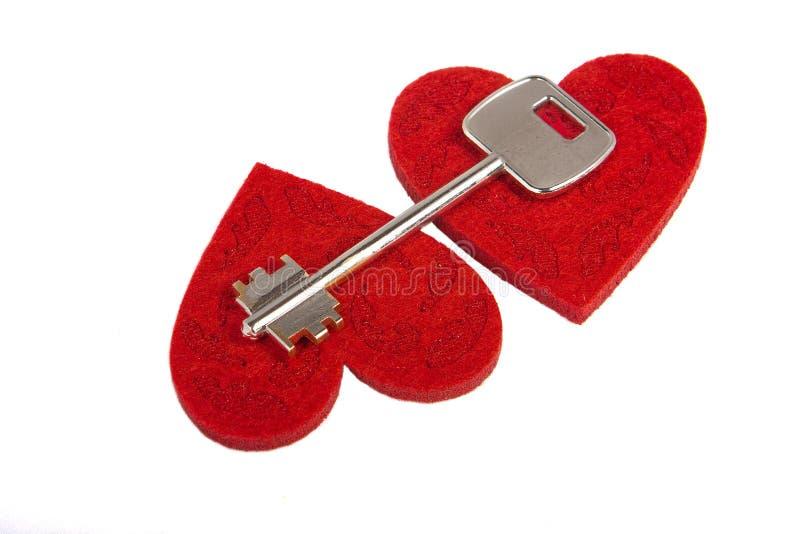 Key On A Hearts Stock Image