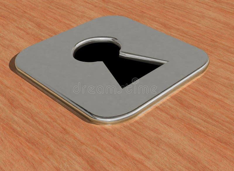Key hole stock image