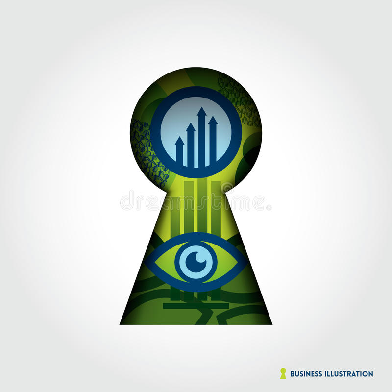 Key Hole Business Concept Illustration royalty free illustration