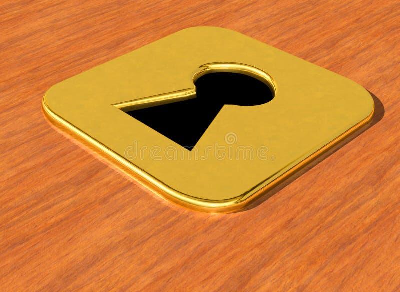 Key hole gold stock photos