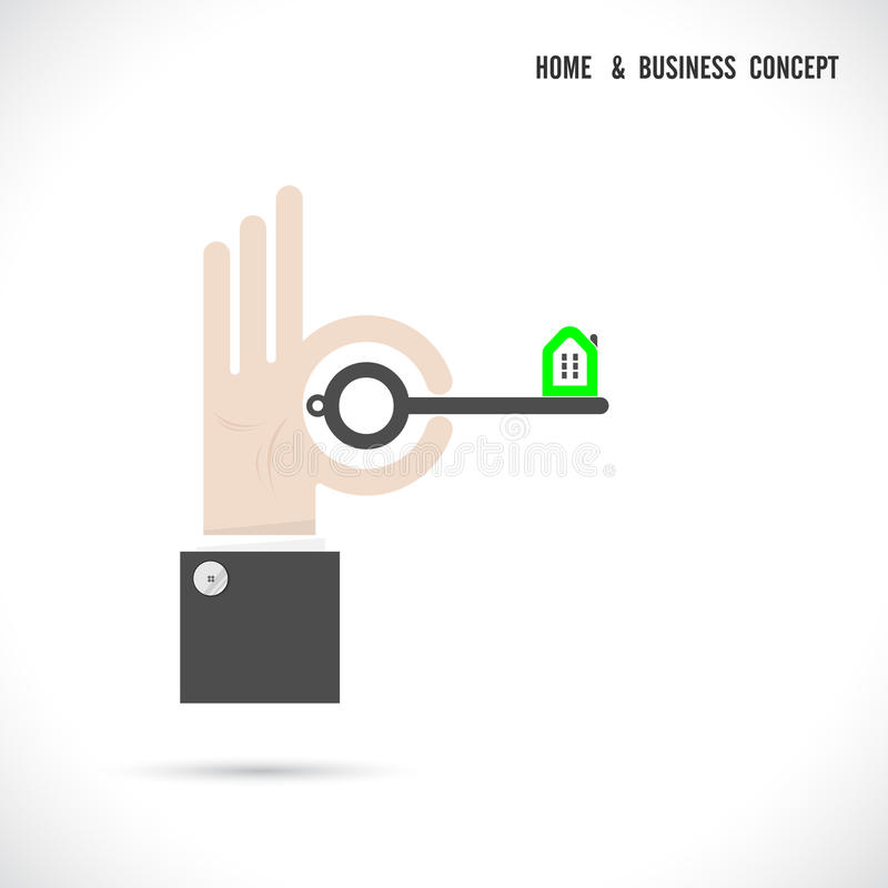 download key and house icon abstract logo vector design stock vector image 62176430