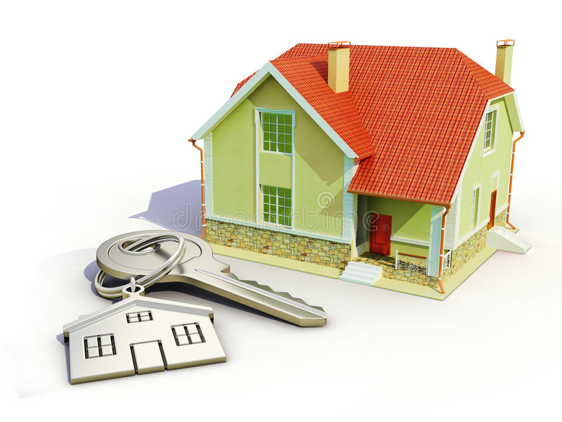 Download Key and house stock illustration. Illustration of ring - 32926653