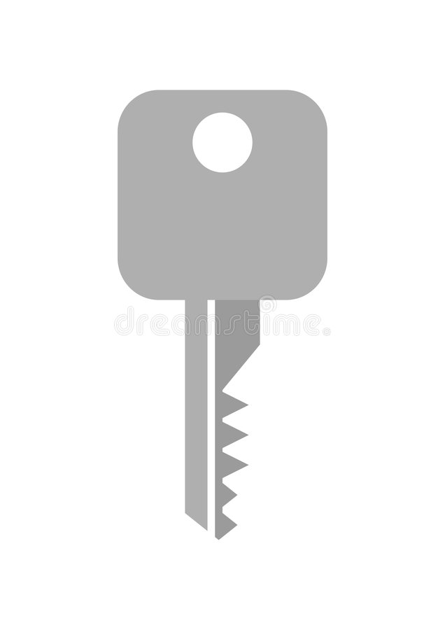 Key Icon. Illustration of gray color key symbol or icon vector illustration