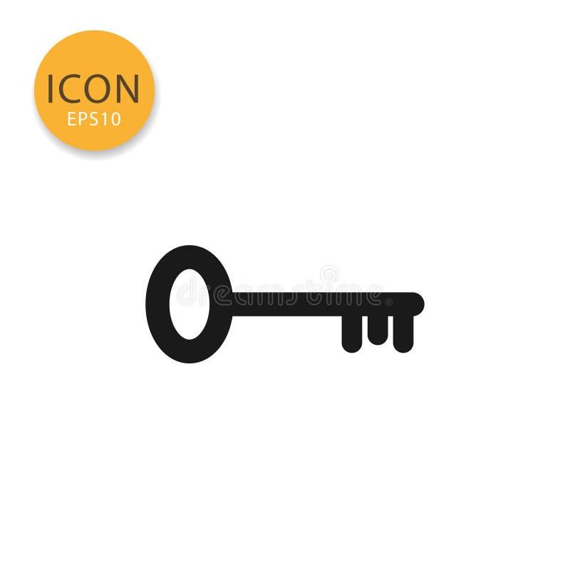 Key icon icon isolated flat style. stock illustration