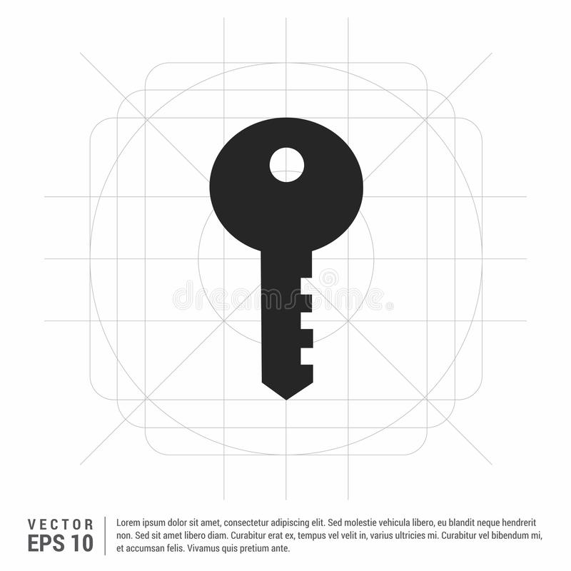 Key Icon. This Vector EPS 10 illustration is best for print media, web design, application design user interface and infographics with well composed layers royalty free illustration
