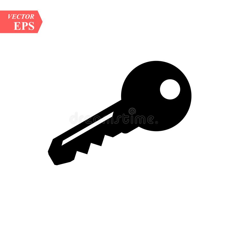 Key icon vector in trendy flat style isolated on white background eps 10 stock illustration