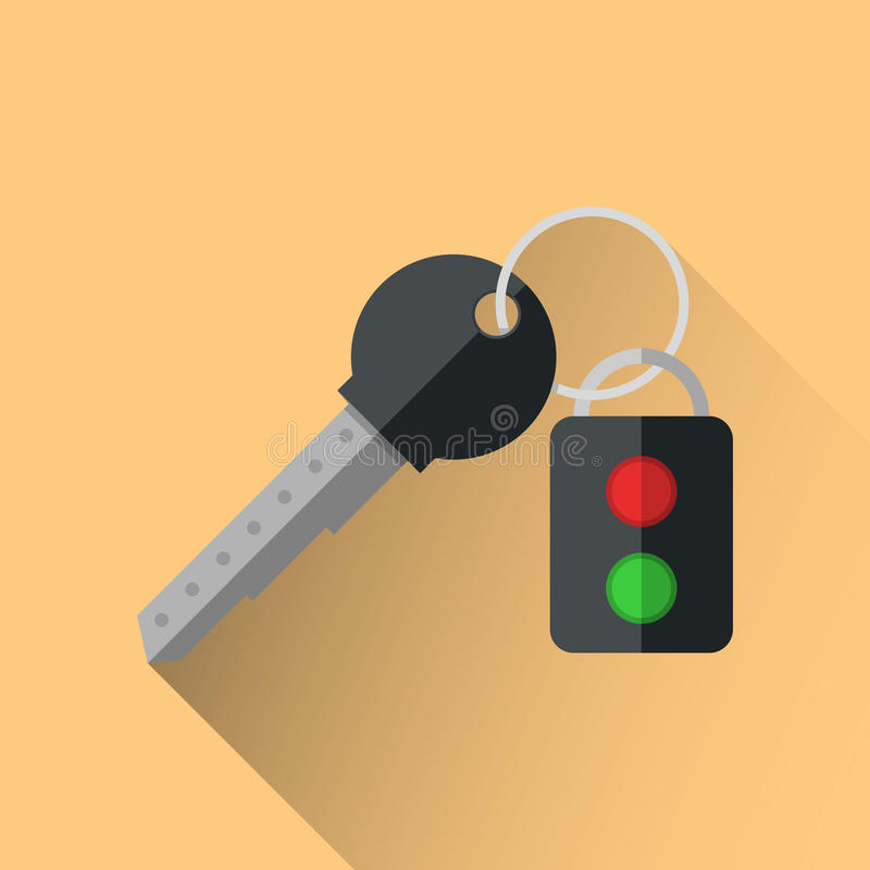 Key infographic. Five colored items. royalty free illustration