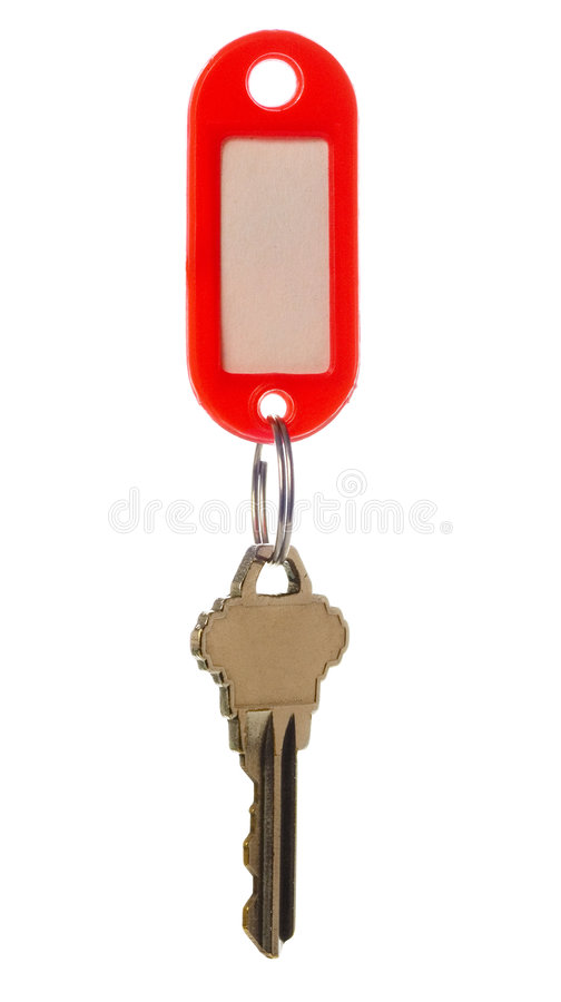 Key with key tag stock images