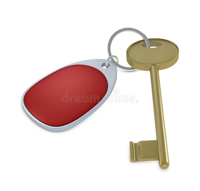 Key With Keychain Royalty Free Stock Photos