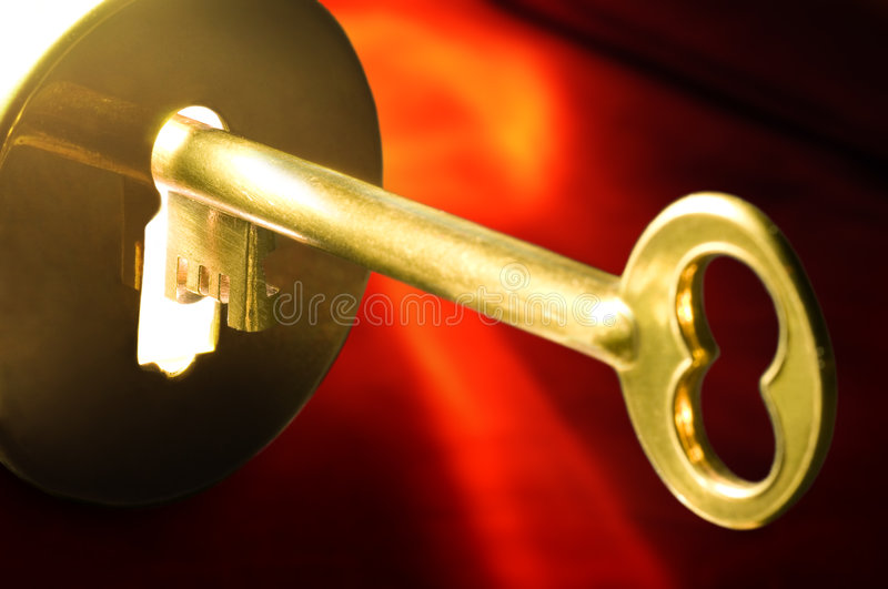 Download Key In The Keyhole Royalty Free Stock Photos - Image: 4734388
