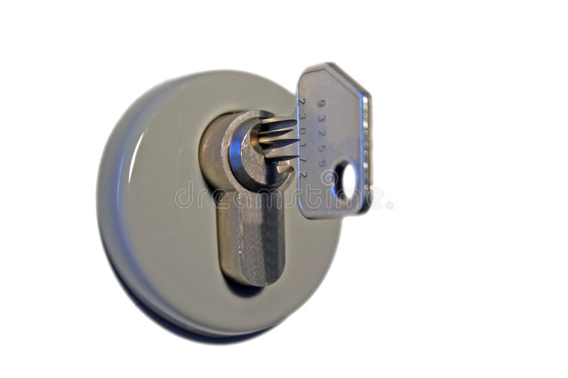 Download Key in keyhole stock image. Image of protection, lock, access - 494181