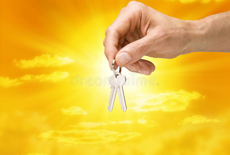 Key Keys Hand Business Sky royalty free stock images