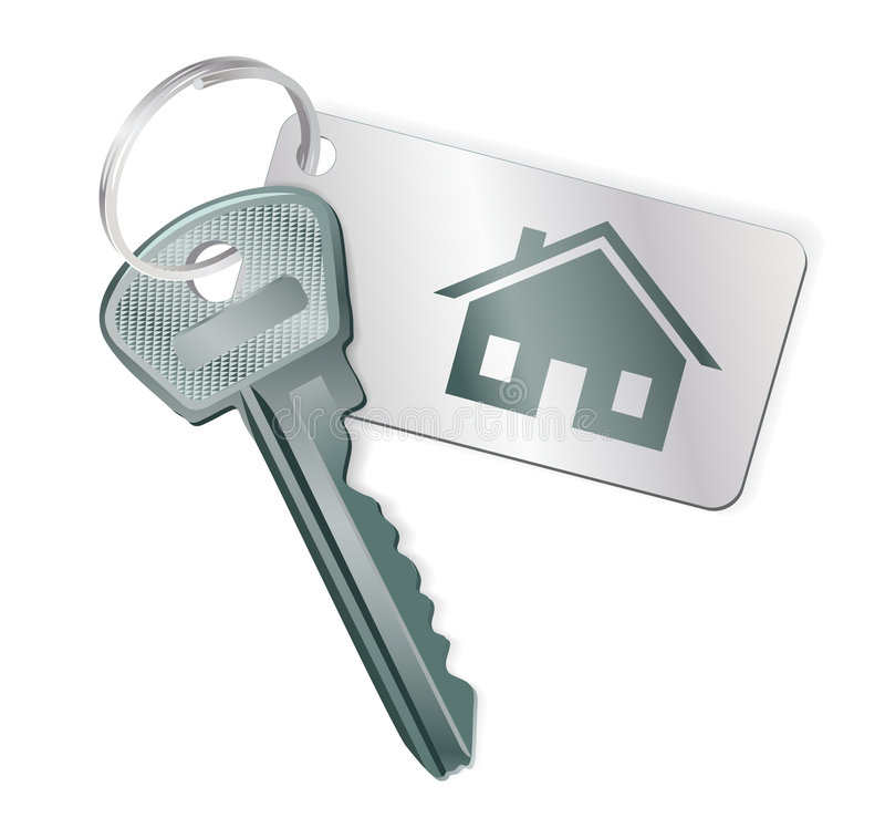 Key with a label vector illustration