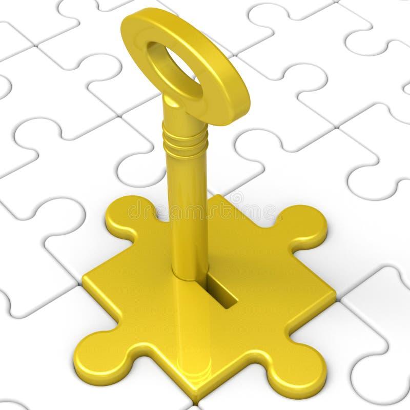 Key In Lock Showing Intimacy stock illustration