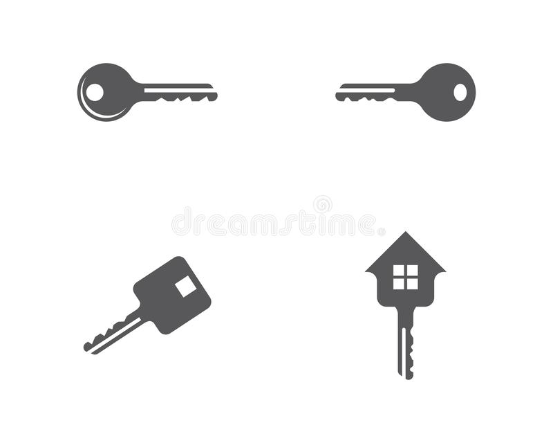 Key logo template royalty free illustration