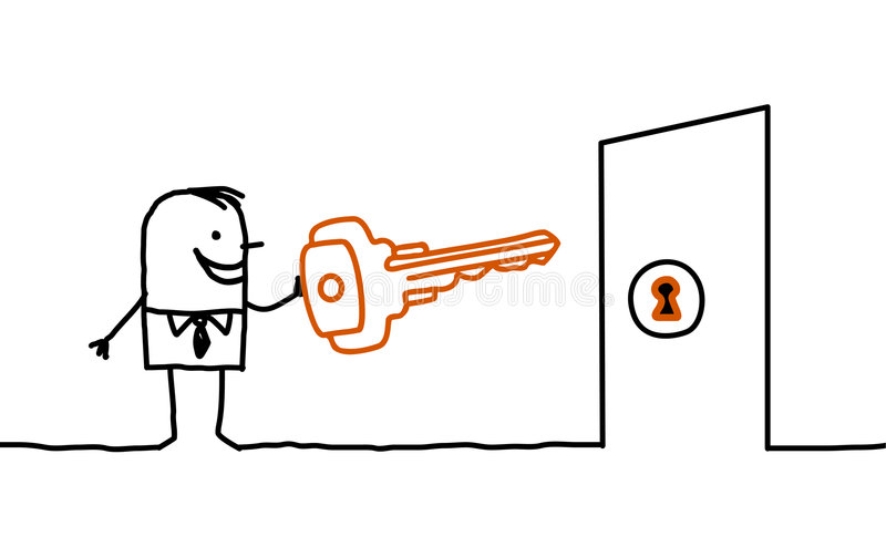key man vektor illustrationer