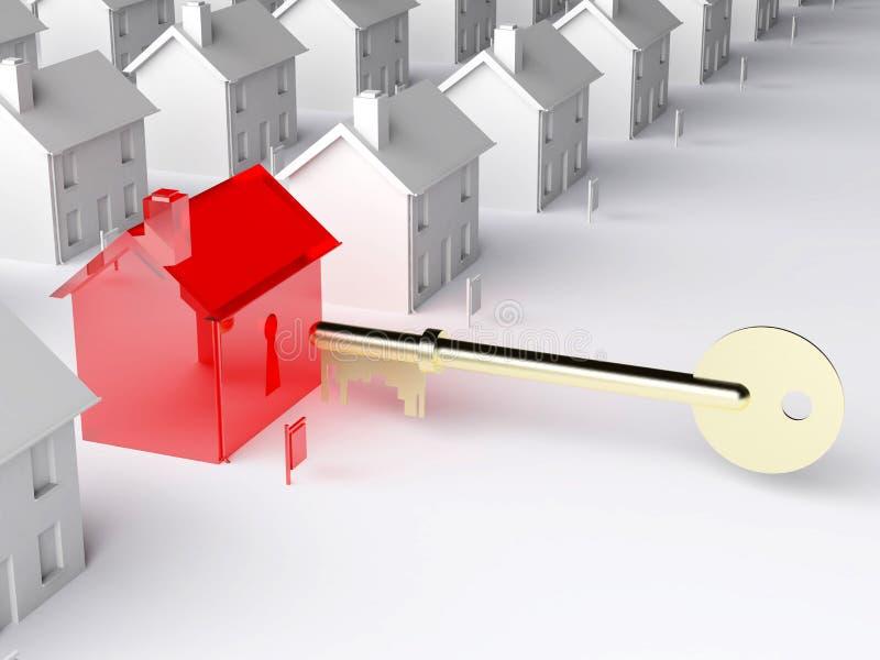 key marknad för hus till vektor illustrationer