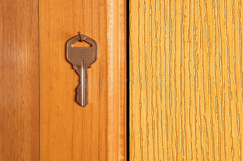 Front Door With Key Stock Image Image Of Lock Glass