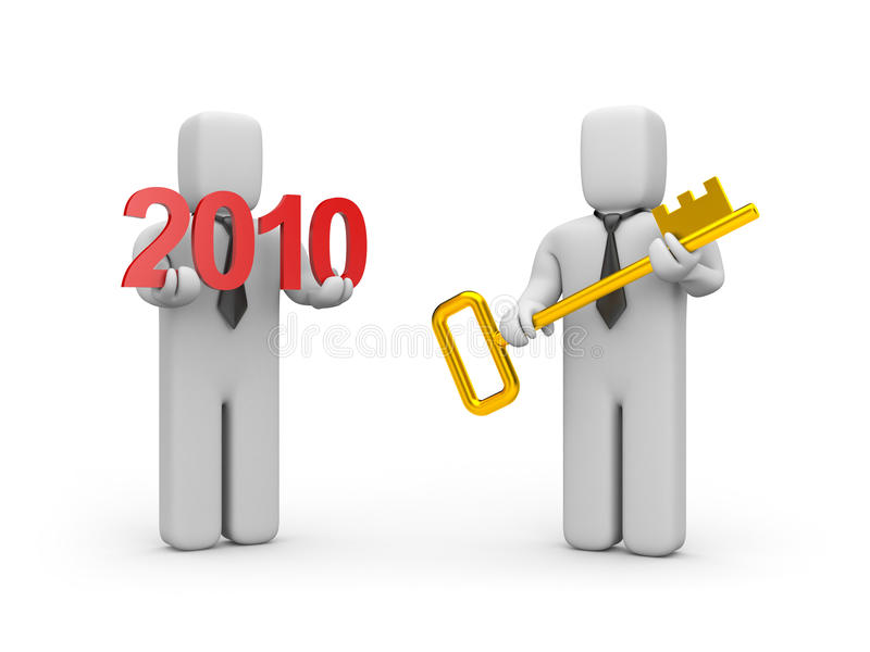 Key From New Business Year Royalty Free Stock Photography