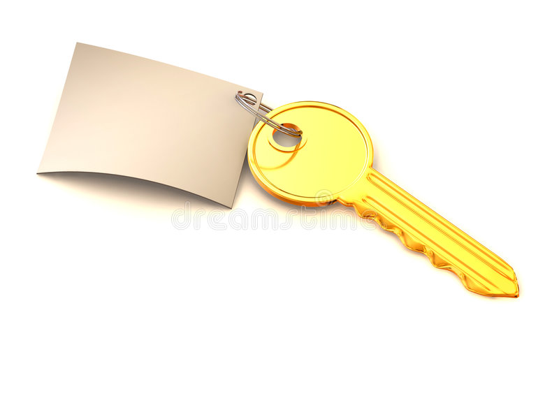 Download Key with note. 3d stock illustration. Image of sign, page - 5457572