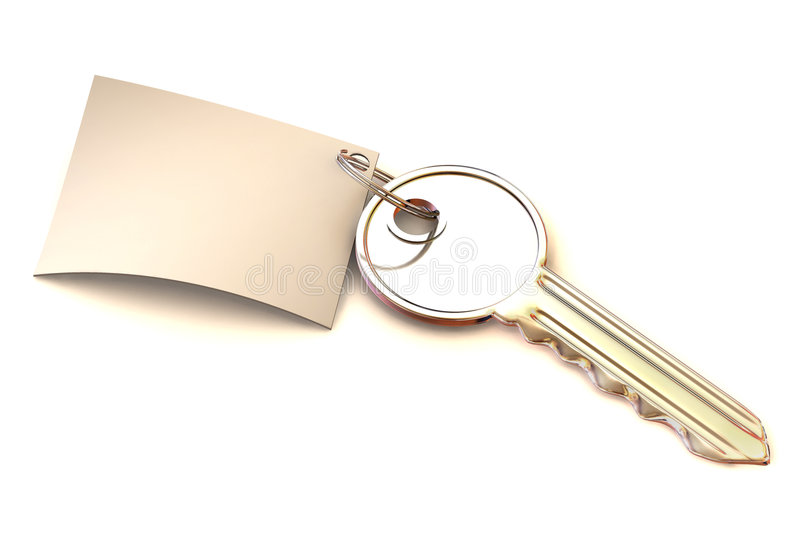 Key with note