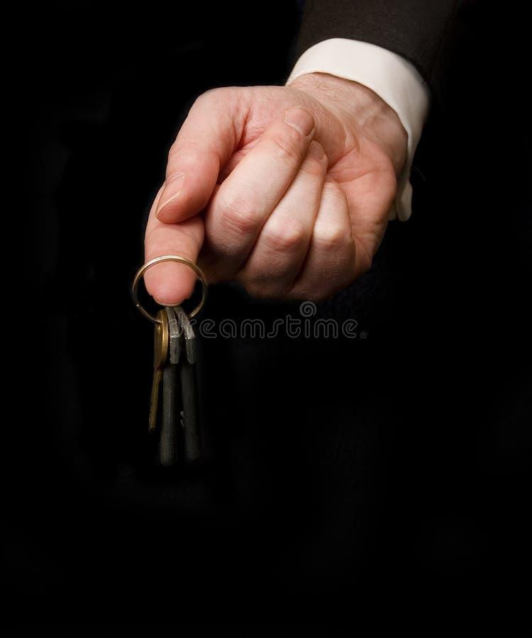 Free Key On Finger Stock Image - 2140481