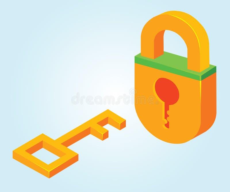 Key And Padlock Stock Photos