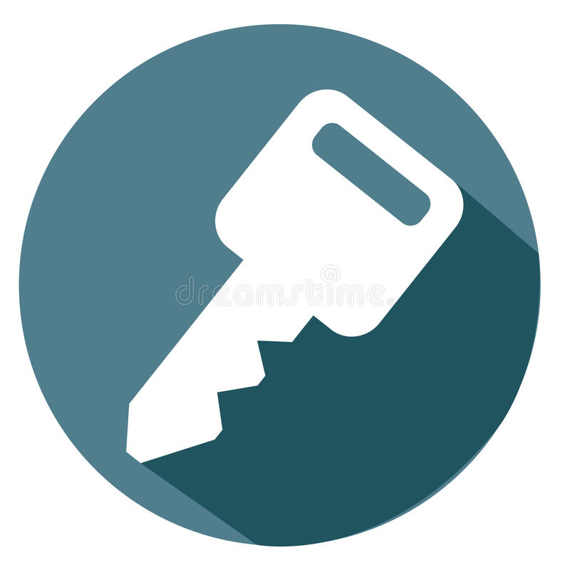 Key and password icon stock images