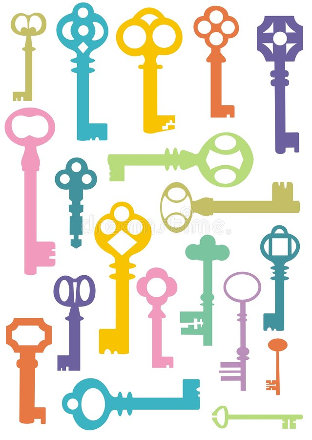 Download Key pattern stock vector. Illustration of objects, shape - 8786121
