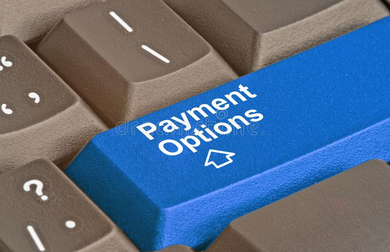 Key for Payment Options. Keyboard with key for Payment Options royalty free stock image