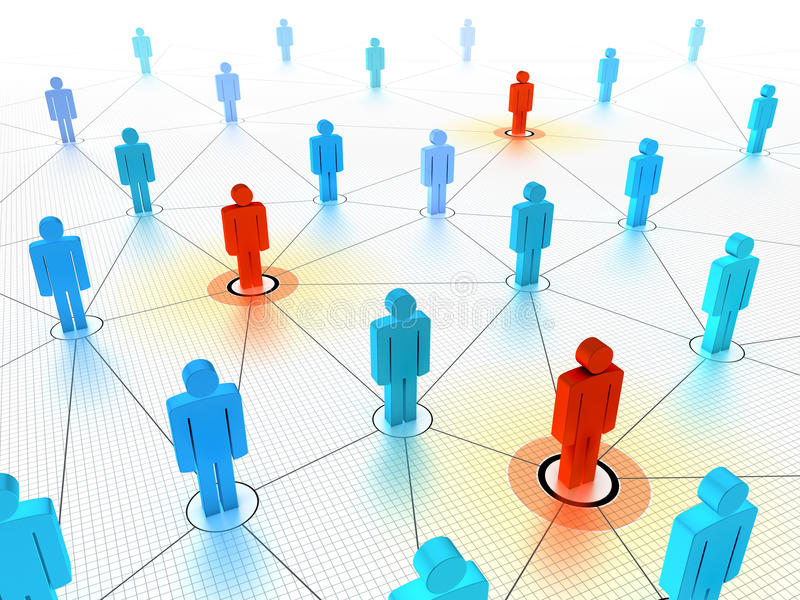 Download Key People In A Networked Crowd Stock Illustration - Image: 10388767