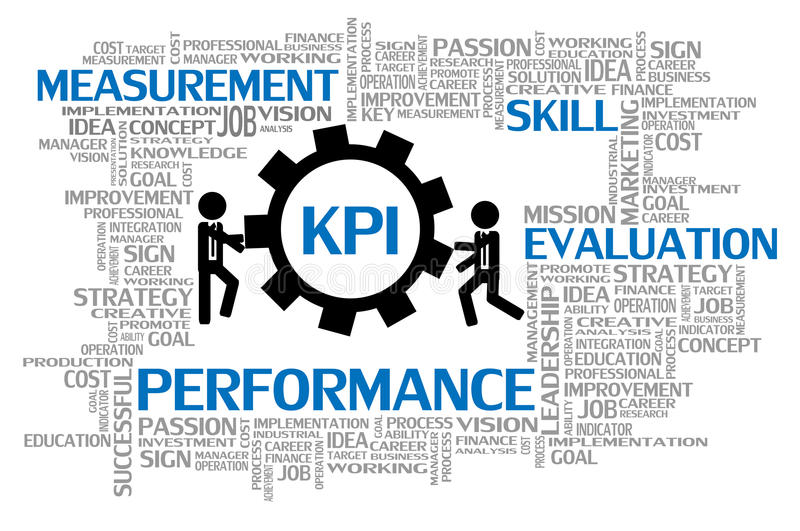 Key Performance Indicator or KPI royalty free illustration