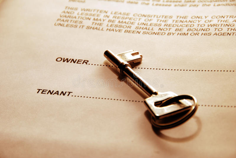Download Key on Property Lease stock image. Image of landlord - 13917967