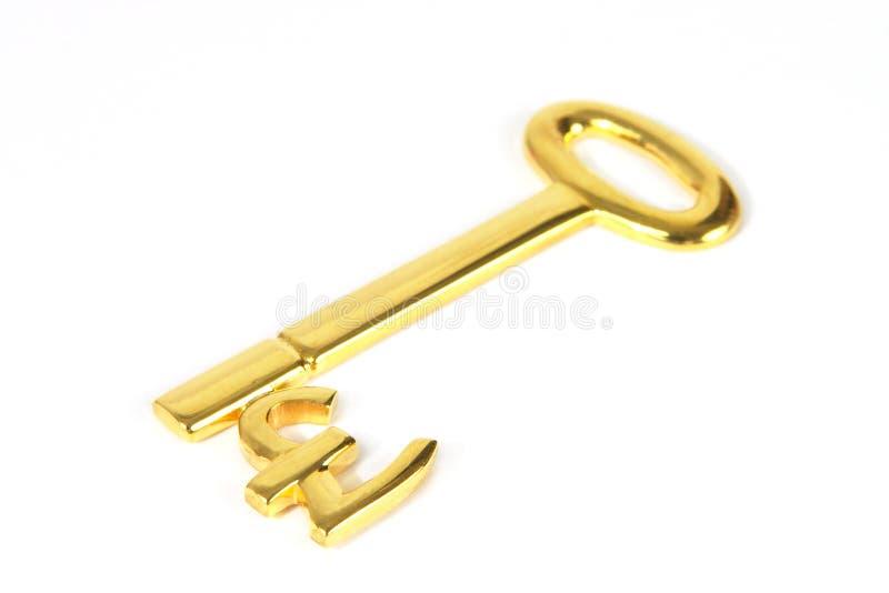 key pund för guld arkivfoton