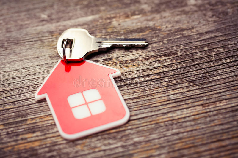 Key and Red House royalty free stock images