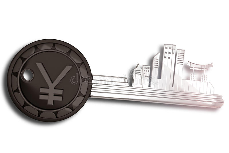 Download Key Ring With Japan Cityscape Stock Illustration - Image: 24109161