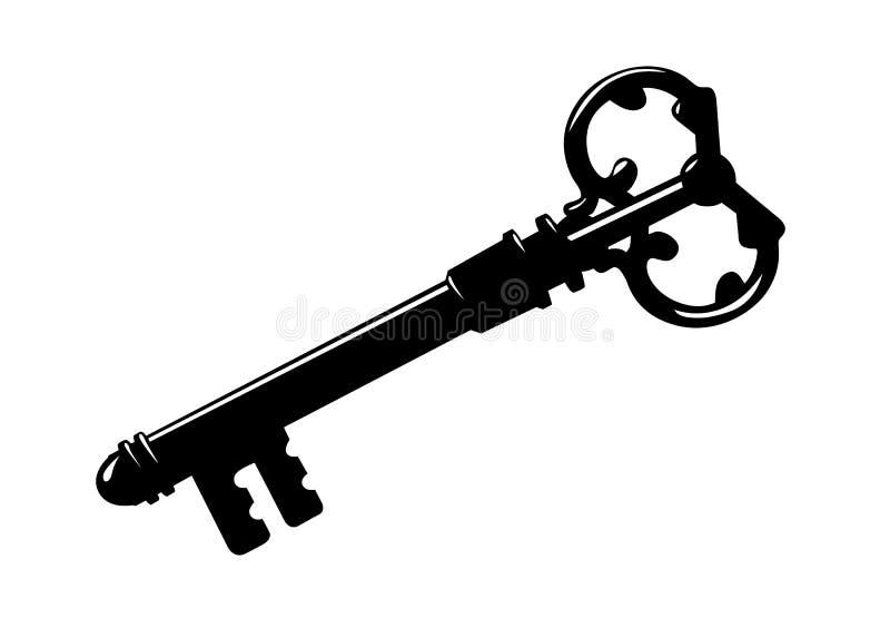 key silhouette stock illustrationer