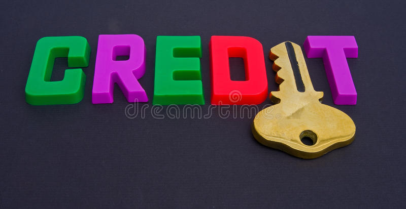 Download Key to credit. stock photo. Image of isolated, england - 13094340