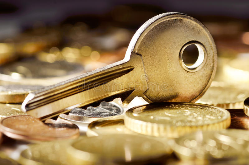Key to financial success stock image