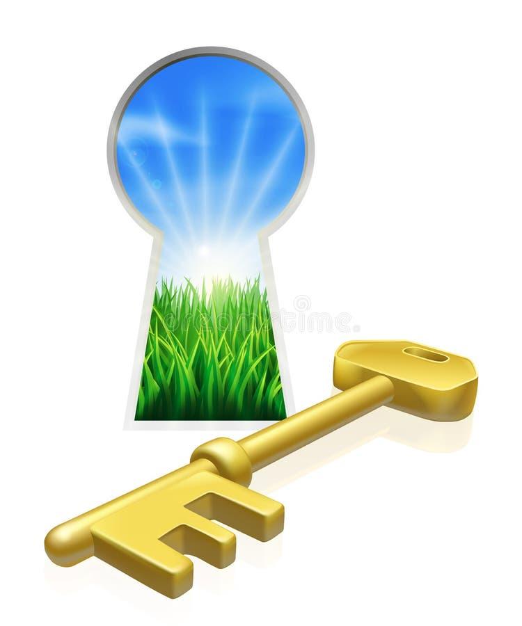 Key to freedom concept stock illustration