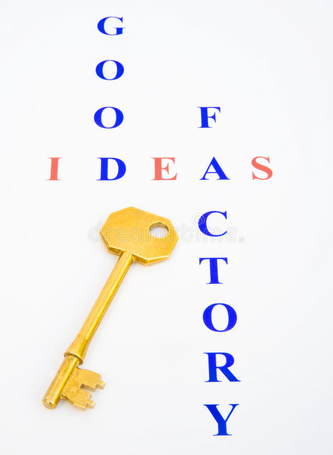 Key to the Good Ideas Factory ? royalty free stock photo