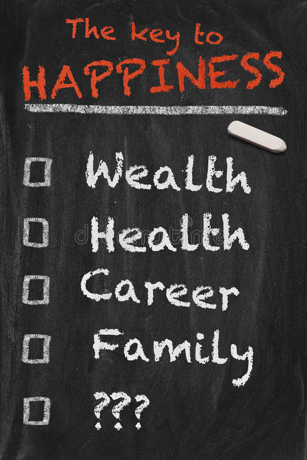 Key To Happiness Stock Images