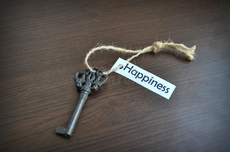 The key to happiness royalty free stock photo