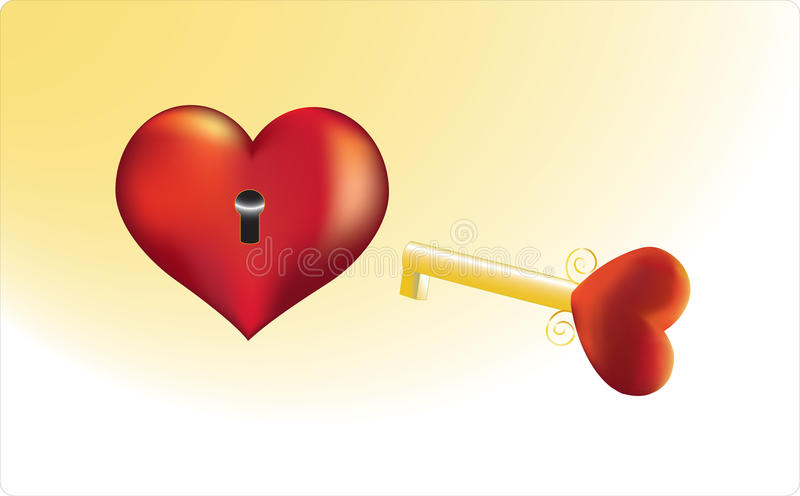Key to heart of the loved person royalty free stock photos
