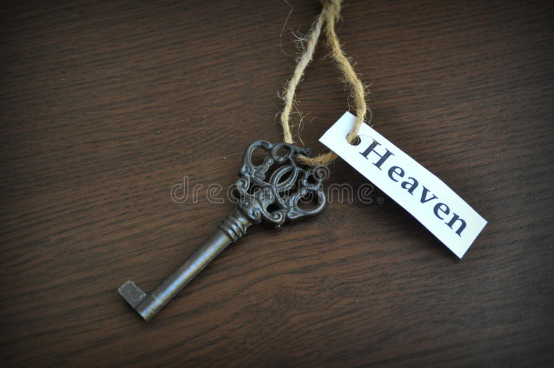 The key to heaven royalty free stock photo