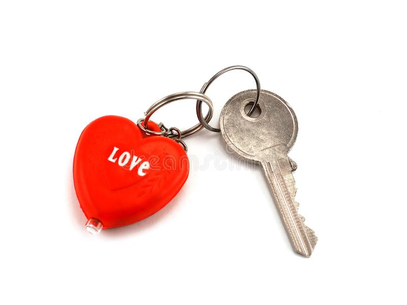Key to her heart stock image
