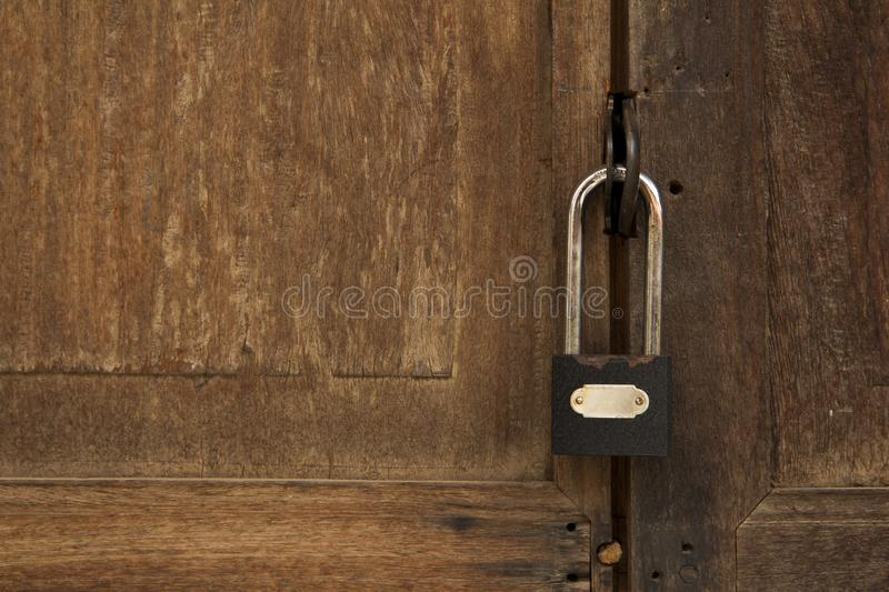 A key to lock the door stock images
