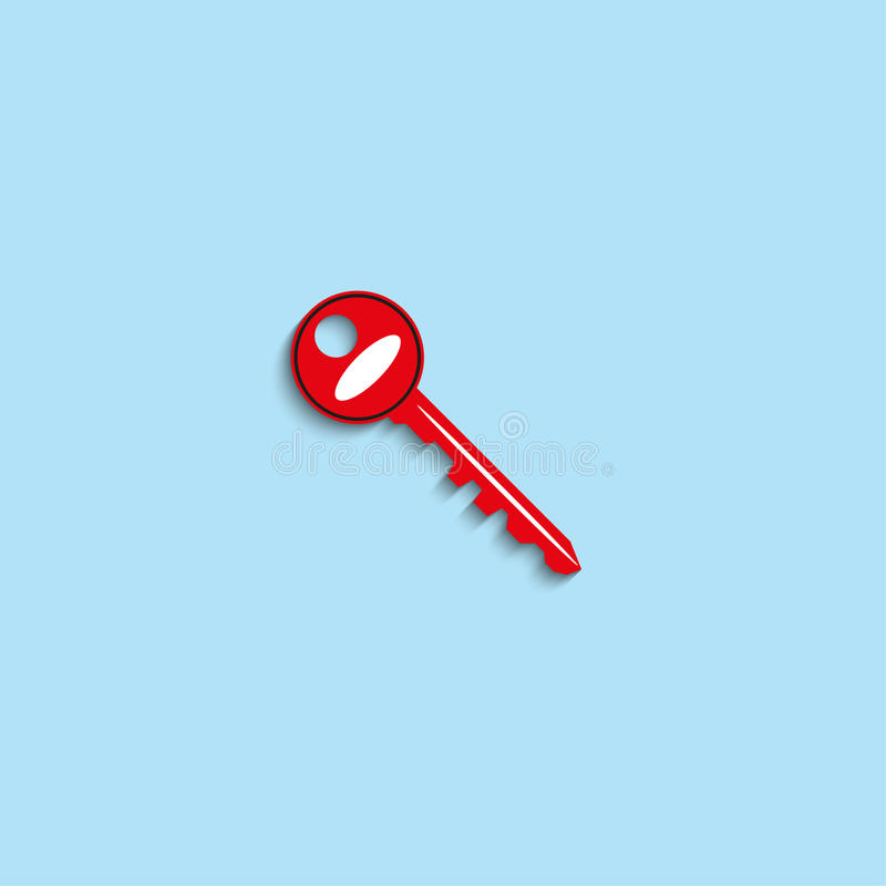 The key to the lock. Vector icon. royalty free illustration