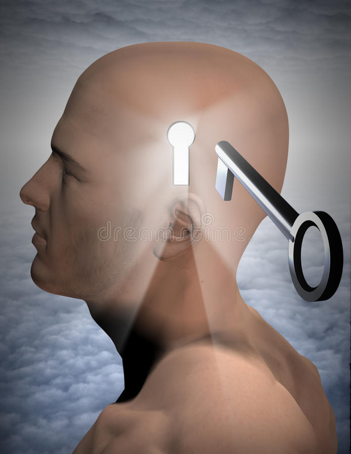 Key to mind stock illustration
