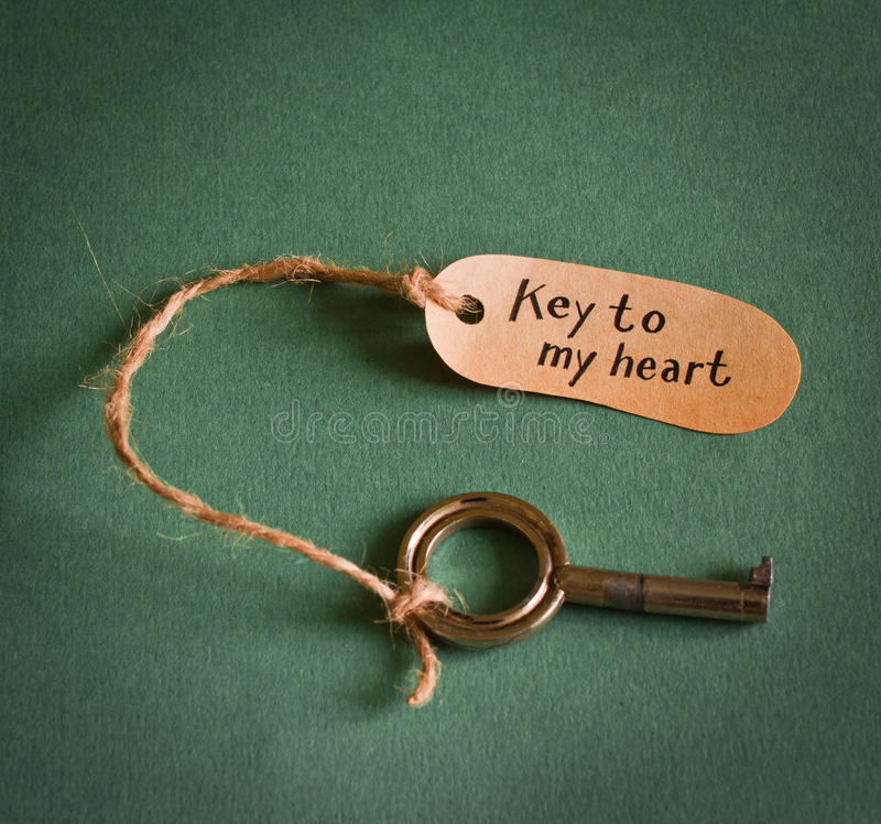 Download Key to my heart stock image. Image of motivation, human - 28838161